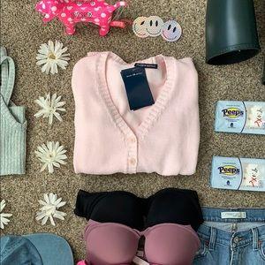 """Brandy Melville """"pastel pink"""" cardigan"""